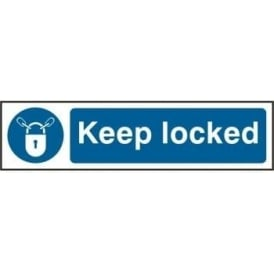 Keep Locked - Mini Sign