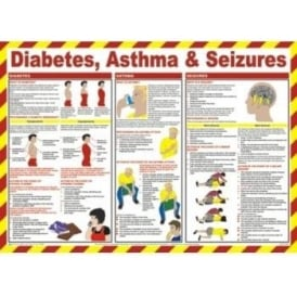 Diabetes, Asthma & Seizures Safety Poster