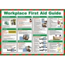 Workplace First Aid Guide Safety Poster