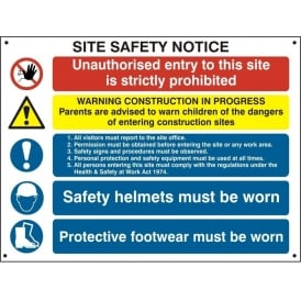 Site Safety Notice - 4550