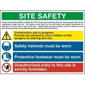 Site Safety Sign - 12404