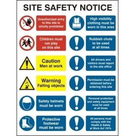 Site Safety Notice - 4552