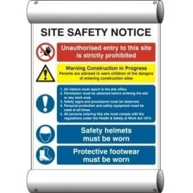 Site Safety Notice - Scaffolding Banner Sign