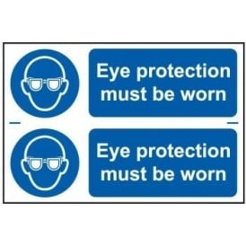 Eye Protection Must Be Worn Sign (2 per sheet)