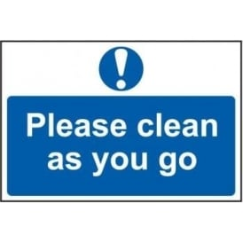 Please Clean As You Go Sign