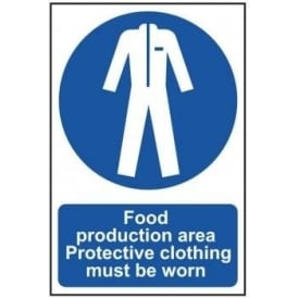 Protective Clothing for Food Production Sign