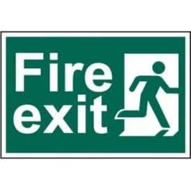 Fire Exit sign with Running Man Right