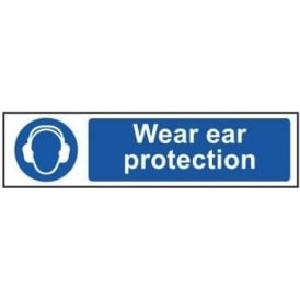 Wear Ear Protection - Mini Sign
