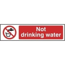 Not Drinking Water - Mini Sign