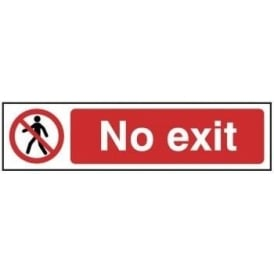 No Exit - Mini Sign