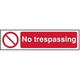 No Trespassing - Mini Sign