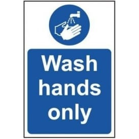Wash Hands Only Sign