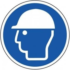 Hard Hat Area Floor Sign