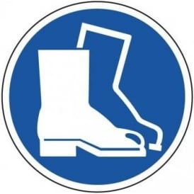Protective Footwear Area Floor Sign