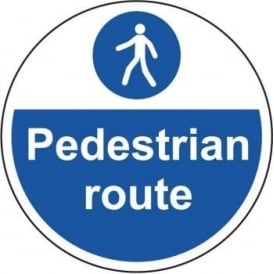 Pedestrian Route Floor Sign