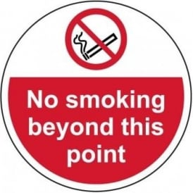 No Smoking Beyond This Point Floor Sign