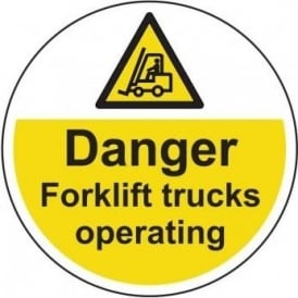 Danger Forklift Trucks Operating Floor Sign