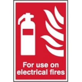 Fire Extinguisher Sign for Electrical Fires