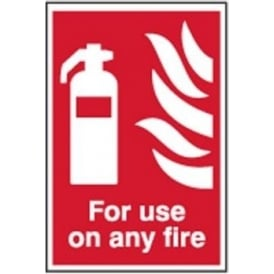 For Use On Any Fire - Fire Extinguisher Sign