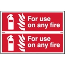 For Use On Any Fire Fire Extinguisher Sign - 2 per sheet