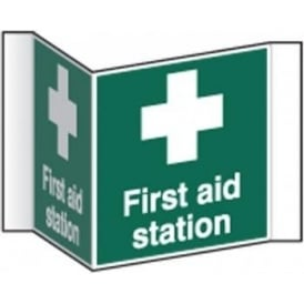 First Aid Station Projecting Sign