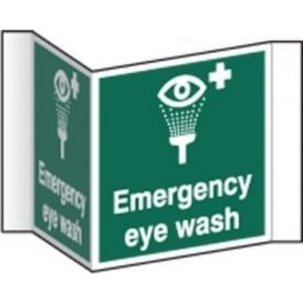 Emergency eye wash Projecting Sign
