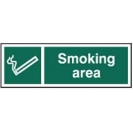 Smoking Area Sign - 300 x 100mm