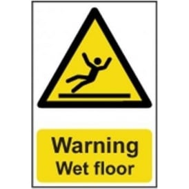 Warning Wet Floor - Semi Rigid PVC