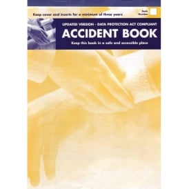 Accident Book - A4 book to record all accidents at work.