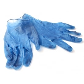 Metal Detectable Disposable Vinyl Gloves (Pack of 500)