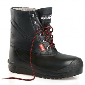 Ice Diamond Leather Lace-up Freezer Boot ID503