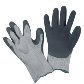 Grey Thermo Rubber Grip Gloves (Pack of 10)