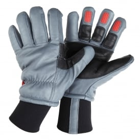 Heavy duty all leather freezer glove with inlaid ultra-grip patches FG650