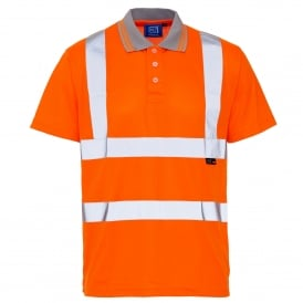 Hi Vis Polo Shirt Orange GO/RT 3279