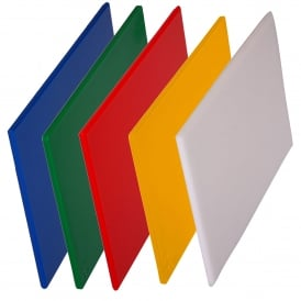 Colour Coded Chopping Board Set (5 Standard Boards)