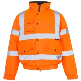 Hi Vis Bomber Jacket Orange Storm GO/RT 3279