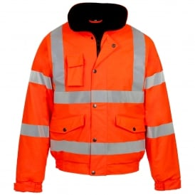 Hi Vis Bomber Jacket Orange Storm-Flex® PU GO/RT 3279