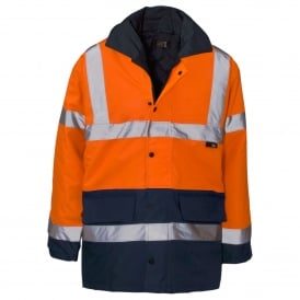 Hi Vis Parka 2 Tone Orange & Blue GO/RT 3279