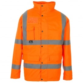 Hi Vis Jacket With ID & Map Pocket Orange GO/RT 3279