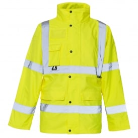 Hi Vis Jacket With ID & Map Pocket EN471 & 343