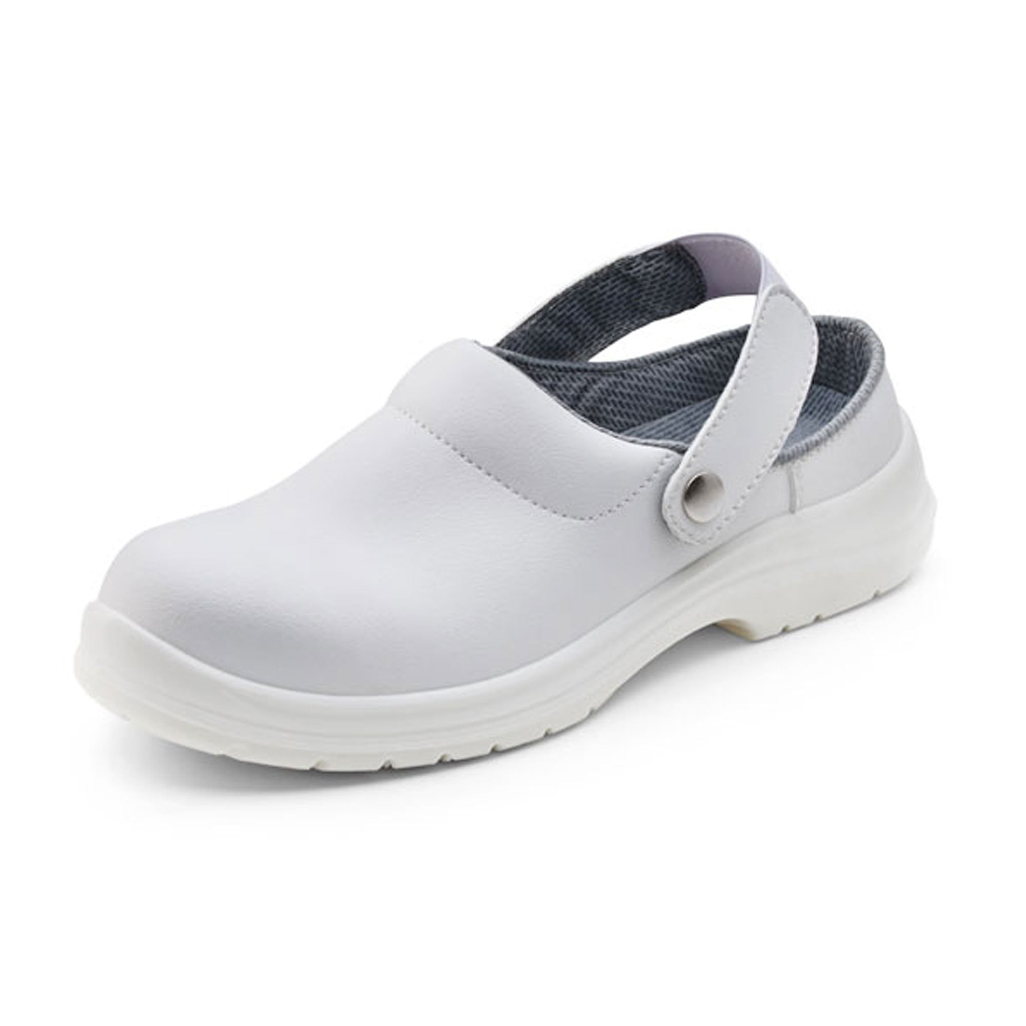 Safety Slippers Steel Toe Cap White